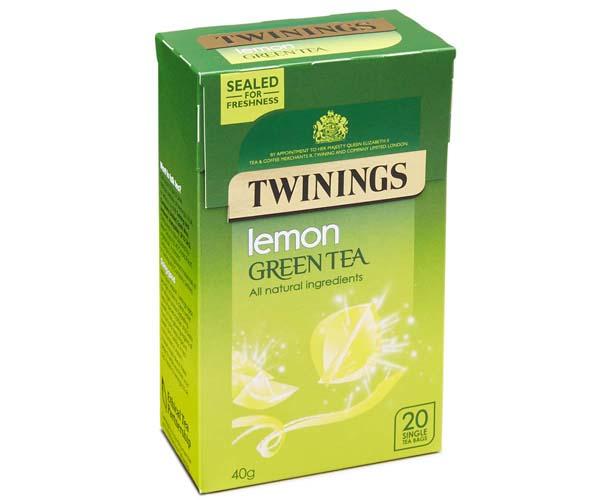 Twinings Teabags - Lemon & Green Tea - 4x20