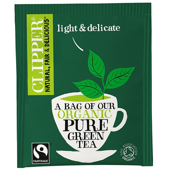 Clipper Enveloped - 250's - F/T Organic Pure Green Tea - 1x250