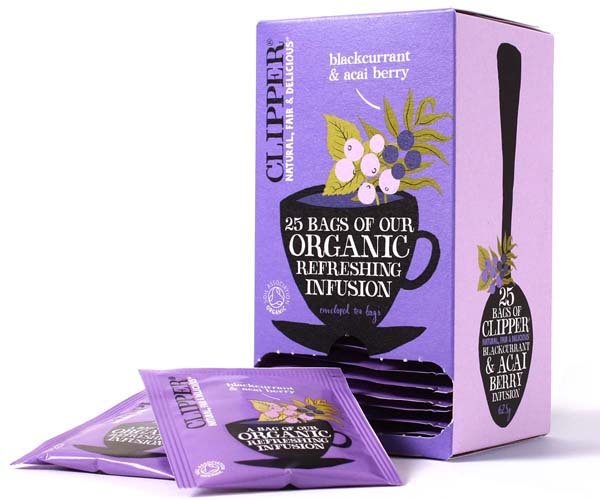 Clipper Enveloped - 25 - Organic Blackcurrant & Acai Berry - 6x25