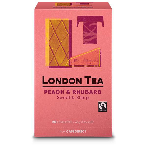 London Tea Enveloped - 20's - Peach & Rhubarb - 6x20