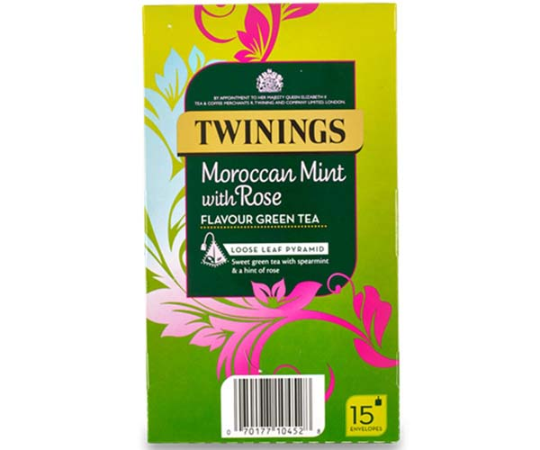 Twinings Enveloped - 216 Pyramid - Moroccan Mint & Rose - 4x15