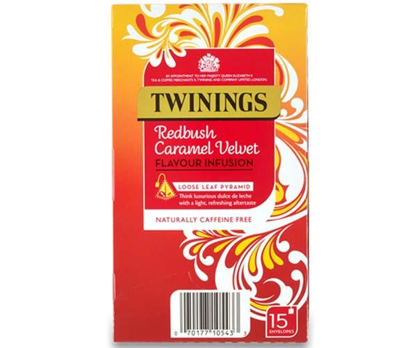 Twinings Enveloped - 216 Pyramid - Redbush Caramel Velvet - 4x15