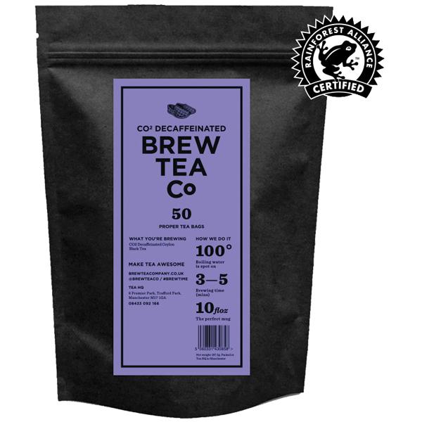 Brew Tea Bags - Co2 Decaffeinated Tea - 1x50 Black Bag
