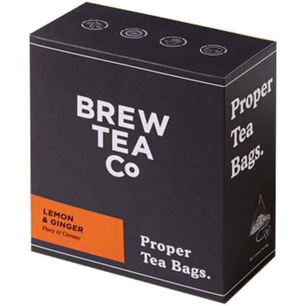 Brew Tea S&T - Lemon & Ginger - 1x100 Black Bag