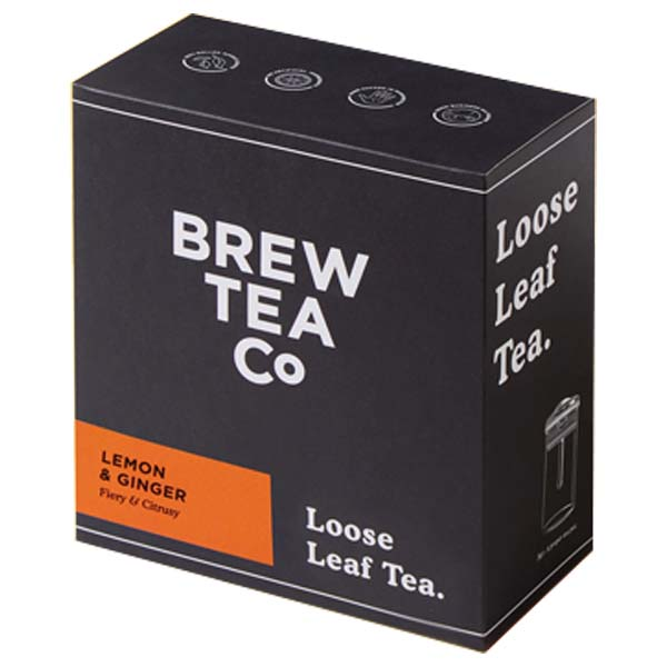 Brew Tea Loose Leaf - Lemon & Ginger - 1x500g