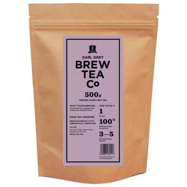 Brew Tea Loose Leaf - Earl Grey - 1x500g