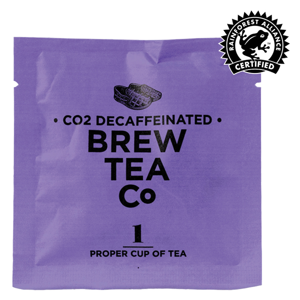 Brew Tea Enveloped - Co2 Decaffeinated Tea - 1x100 Box