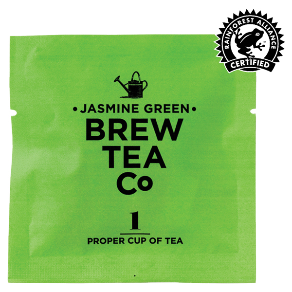 Brew Tea Enveloped - Jasmine Green Tea - 1x100 Box