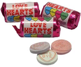 Love Hearts Mini Tubes x3kg Bag