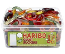 Haribo Giant Suckers 60Pcs Tub