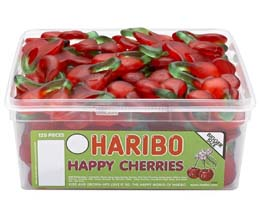 Haribo Giant Happy Cherries 120Pcs Tub