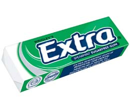 Wrigleys Extra Gum - Spearmint Sugarfree - Green - 30x14G