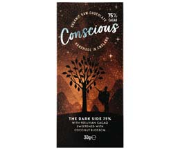 Conscious Chocolate - 75% Dark - 10x30g