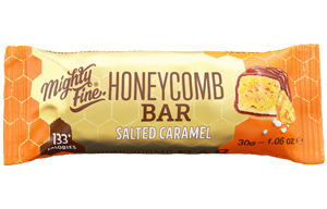 Mighty Fine Honeycomb Bar - Salted Caramel - 15x30g