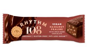 Rhythm 108 - Swiss Choco Bar - Hazelnut Quinoa Praline-15x33G