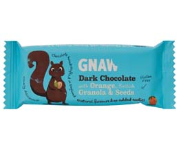 Gnaw - Dark Choc With Orange, Granola & Seeds - 40x35g