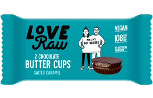 Love Raw Butter Cups - Salted Caramel - 18x34g