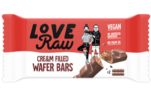 Love Raw - Vegan Cre&m Filled Wafter Bars - 12x43g