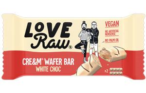Love Raw - Vegan Cream Wafer Bars - White Choc - 12x45g