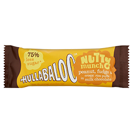Hullabaloo - Nutty Munch - Milk Chocolate Crispy Peanut Fudge - 15x30g
