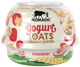 Nomadic Oat Clusters  - Strawberry Low Fat Yoghurt - 6x169G