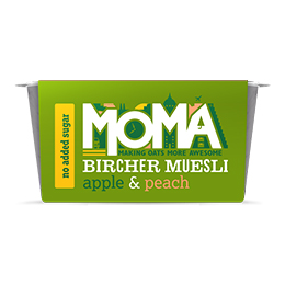 Moma Bircher Muesli - Apple & Peach - 6x220g
