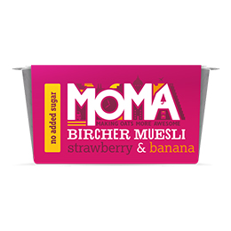 Moma Bircher Muesli - Strawberry & Banana - 6x220g
