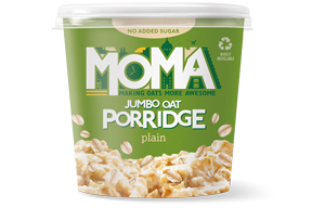 Moma Porridge - No Added Sugar Plain - 12x70g