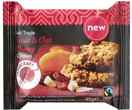 Fairtrade Traidcraft Fruit/ Oat Cookies - 16x45g