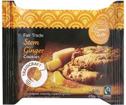 Fairtrade Traidcraft Stem Ginger Cookies - 16x45g
