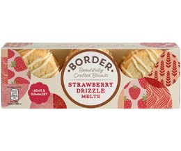 Border Biscuits - Strawberry Drizzle Melts - 12x150g
