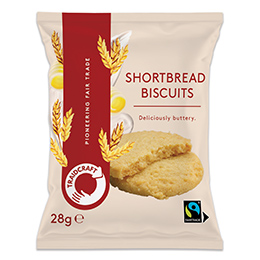 Traidcraft - F/T - Shortbread Biscuits - 20x28g