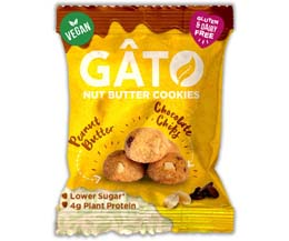 Gato Nut Butter Cookies-Peanut Butter & Choc Chips - 10x33g