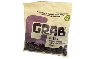 Grab Bites - Raisins Coated In Dark Chocolate - 12x50g