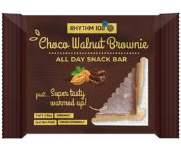 Rhythm 108 - Choco Walnut Brownie All Day Snack Bar - 12x40g