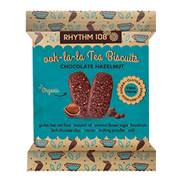 Rhythm 108 - Chocolate Hazelnut Tea Biscuit - 12x24G