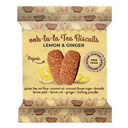 Rhythm 108 - Lemon & Ginger Tea Biscuit - 12x24G