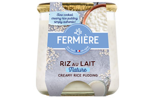 La Fermiere Glass - Plain Rice Pudding - 6x160g
