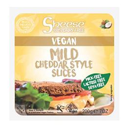 Sheese Vegan Sliced Mild Cheddar Style - 6x200g