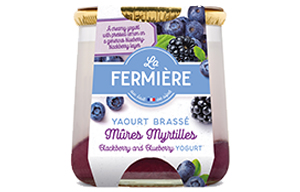 La Fermiere Glass Yoghurt Jar -Blackberry & Blueberry-6x160g