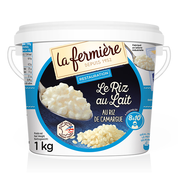 La Fermiere - Vanilla Rice Pudding Bucket - 1x1Kg