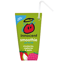 Innocent Kids Wedge Smoothie - Strawberries,Raspberries & Apples - 16x150ml