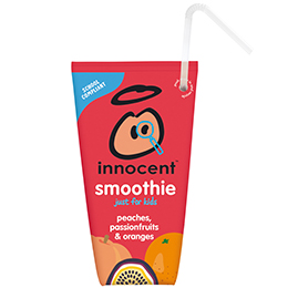 Innocent Kids Wedge Smoothie - Peach & Passion Fruit - 16x150ml