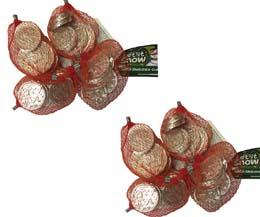 White Chocolate Coin Nets - 60x25g