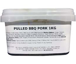 Sandwich Filler - Marinated Bbq Pulled Pork - 1x1kg
