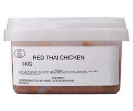 Sandwich Filler - Marinated Red Thai Chicken - 1x1kg