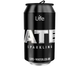 Life Water - Cans - Sparkling - 24x330ml