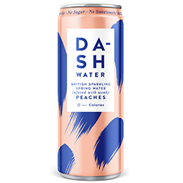 Dash Water - Peach - 12x330ml
