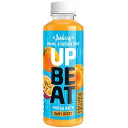 Upbeat Protein Water - PET - Still Orange & Passion Fruit - 12x500ml