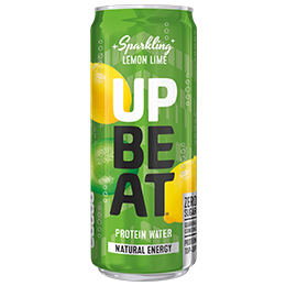 UpBeat Protein Water - Can - Sparkling Lemon & Lime- 12x330ml